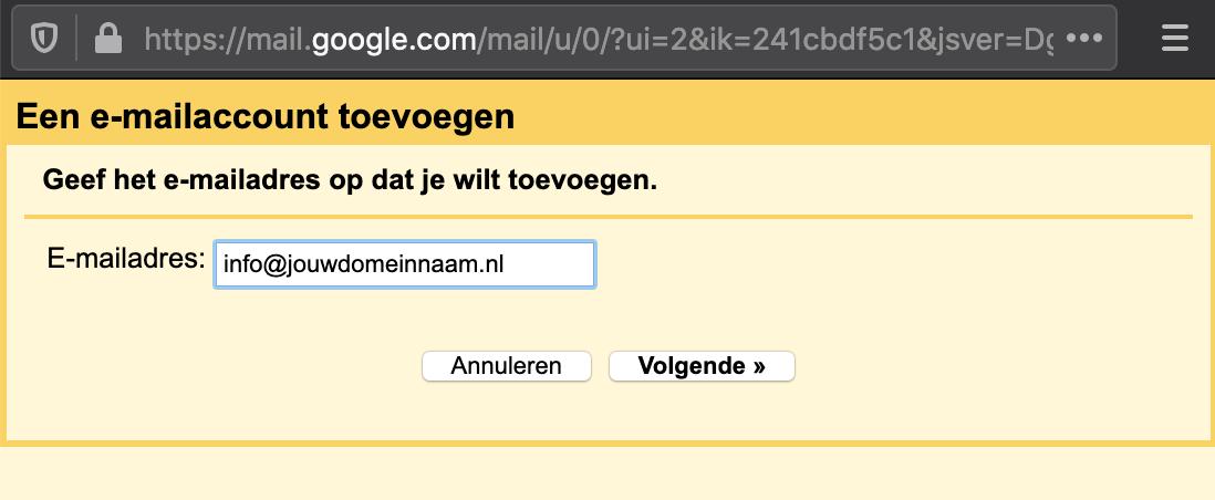 Gmail zakelijke mail koppelen